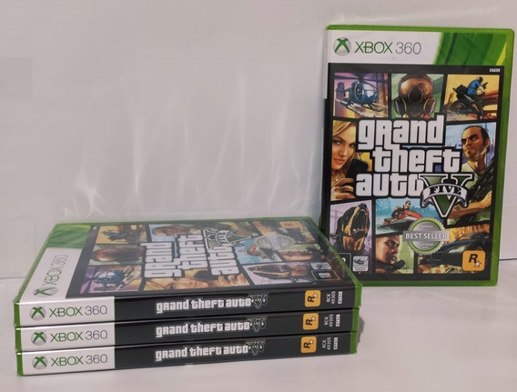 Jogo Gta Xbox V 360 Original Lacrado + Mapa Do Jogo Promoção
