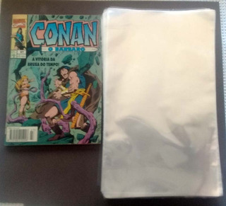 Saco Plástico Para Gibis Hq Manga 100 Unidades Formatinho