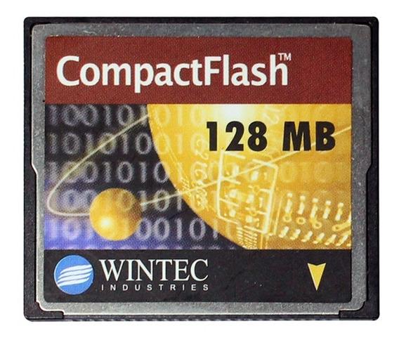 Cartao Compact Flash Cf Marca Wintec Industries De 128 Mb.