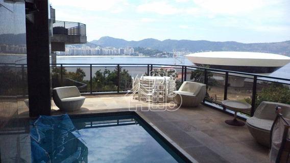Apartamento Com 4 Dormitórios À Venda, 526 M² Por R$ 2.800.000,00 - Boa Viagem - Niterói/rj - Ap0316