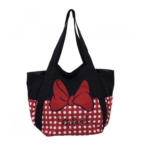Bolsas Femininas Disney Algodão Vermelho/branco Original