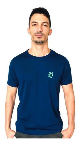 Imagem 1 de 2 de Camiseta Masculina Lobo  Sport T022 Dry Fit Marinho