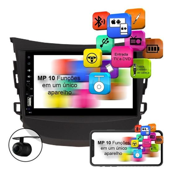 Central Multimídia Hb20 Mp10 Cam Ré Esp. Android E Ios Usb