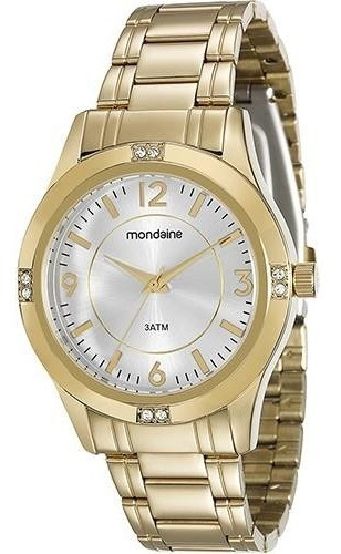Relógio Dourado Feminino Mondaine - Original