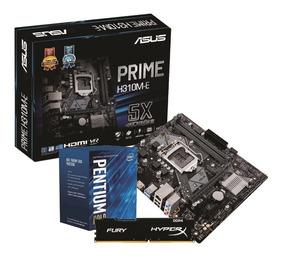 Kit Intel Pentium G5400 Asus Prime H310m E 4gb Fury 2400mhz