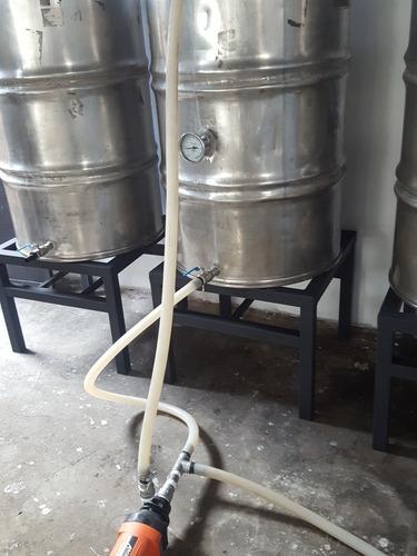 Equipo Para La Fabricacion Cerveza 200 Litros Acero Inoxidab