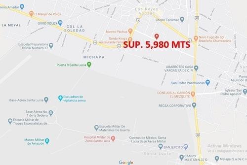 Terreno Lib. Sor Juana Ines, Tecamac,los Reyes Sup.5,980 Mts