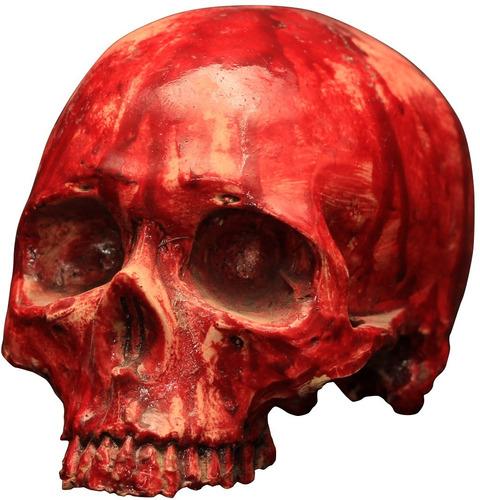 Imagen 1 de 1 de Decorativo Cráneo De Resina Sangriento Bloody Resin Skull