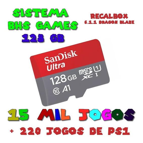 Cartão De Memoria 128gb Recalbox 6 Raspberry 15mil Jogos