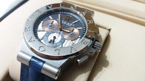 Relógio Bulgari Calibro 303 Ouro Branco Duas Pulseiras