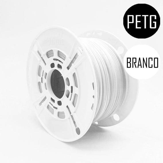 Filamento 3d Prime Petg Branco Sólido 1,75mm 1kg