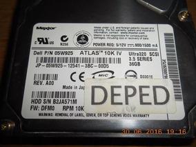 Hd Dell Maxtor Atlas Pn: 05w925 Ultra320 Scsi 36gb (hd180)
