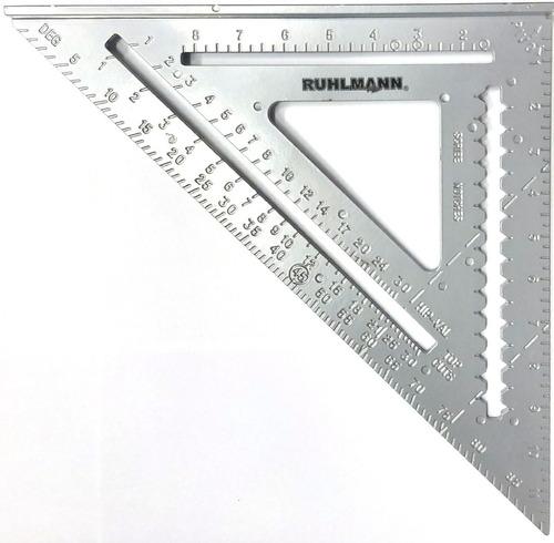 Escuadra  De Aluminio 45 Grados Con Sombrero 30 X 30