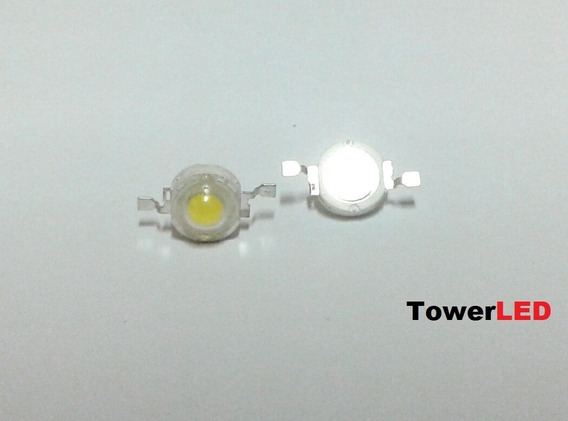 Super Chip Power Led 1w 100 120lm 6000-6500k - 70 Unidades