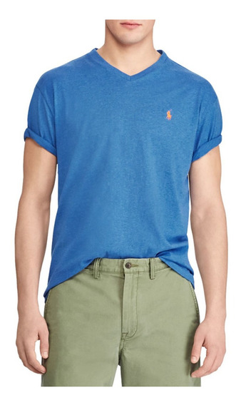 Remeras Algodon Cuello V Classic Fit Polo R. Lauren