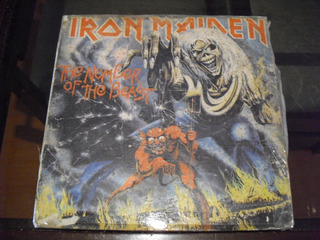 Disco Lp Iron Maiden , The Number Of The Beast