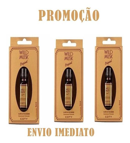 Óleo Perfumado Almiscar Selvagem Wild Musk 5ml C/3 Frasco
