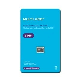 Cartão De Memória Classe 10 32gb Preto Multilaser - Mc145