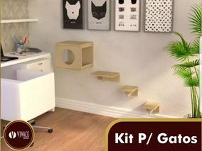 2 Kits Para Gatos, 2 Tocas, 2 Prateleiras 4 Steps,
