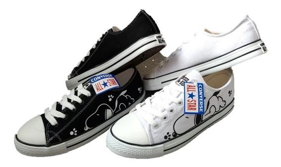 Tenis Converse De Snoopy Blancos Ropa, Bolsas y Calzado en