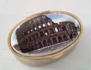 Pastillero Italiano Coliseo De Roma Usado Impecable