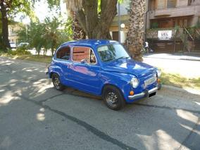 Fiat 600 R 1975 Azul Impecable. Motor A Nuevo. En Devoto.
