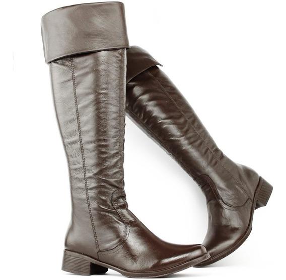 Bota Over The Knee Feminina Montaria Texana Couro Legítimo