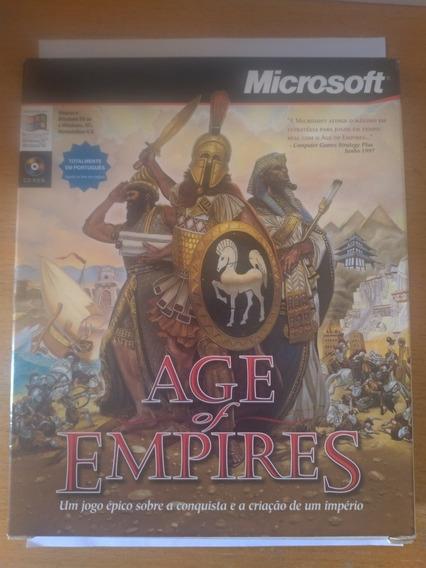 Age Of Empires Jogo Midia Cd Capa Original 1997 Colecionador