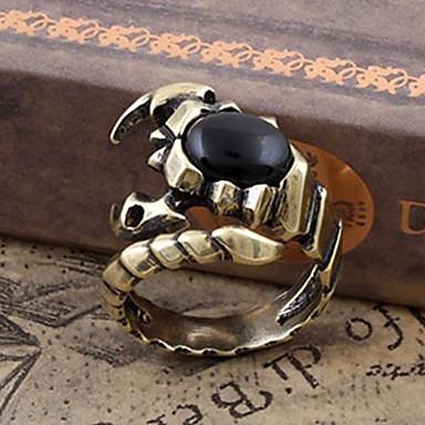 Anéis Pesta / Diário / Casual Jóias Chapeado Dourado Masculi