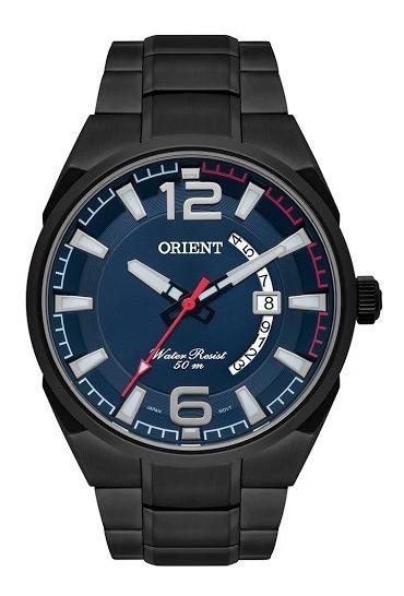 Relógio Orient Masculino Caixa E Pulseira Grafite Mpss1007