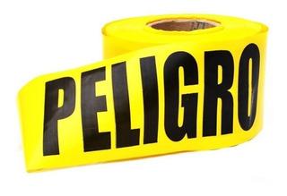 Cinta Peligro Seguridad Industrial Amarilla 100mt X5pulgadas