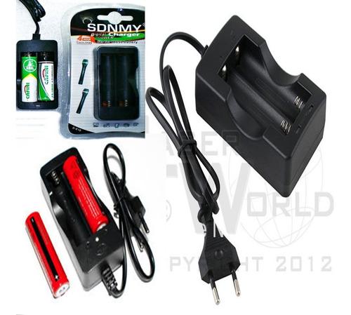 Cargador Doble Carga Rapida Para Pila Bateria 18650 Li-ion