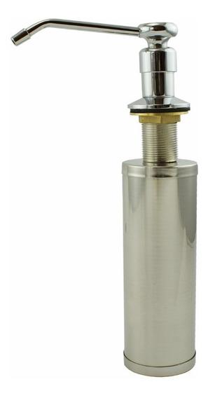 Dispenser Dosador Inox Bancada Embutir Detergente E Sabonete