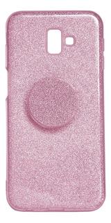 Capa Para Celular Samsung M30 Com Popsocket Rosa Hrebos