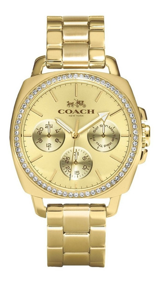 Relógio Coach Feminino Boyfriend Dourado 14502080