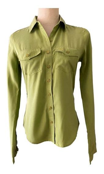 Camisa Verde Manzana Entallada Importada Abercrombie & Fitch