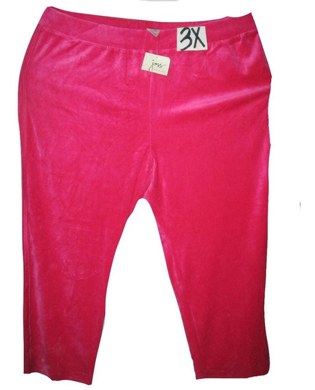 Pantalon Pants Deportivo Rosa Talla 3x (42/44) Just My Size