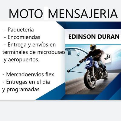 Moto Mensajeria, Paqueteria, Encomiendas, Envios