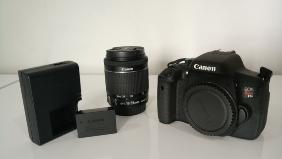 Câmera Canon Rebel T6i (completa) Novíssima!