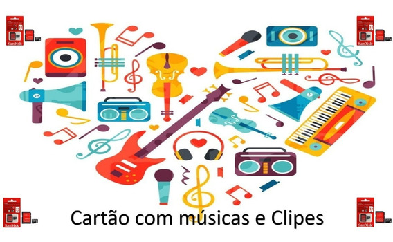 Cartão Sd 32gb Com Músicas E Clipes