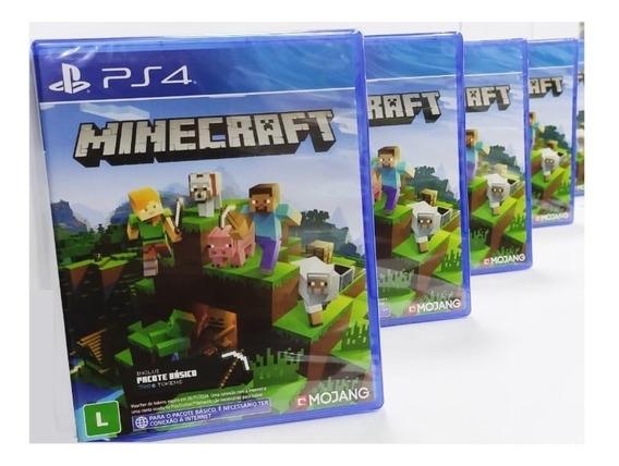 Minecraft Ps4 Jogo Mídia Física Novo Edition + Brinde