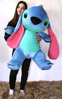 Peluche Stitch Gigante 1 M Con Corazón E.gratis San Valentín