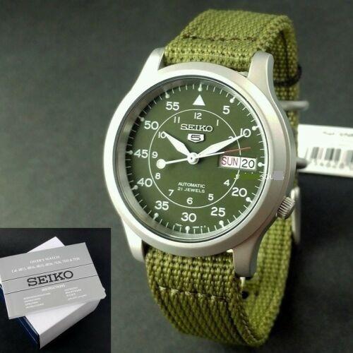 Relógio Militar Aço Inox Seiko Snk805-k2 Automático