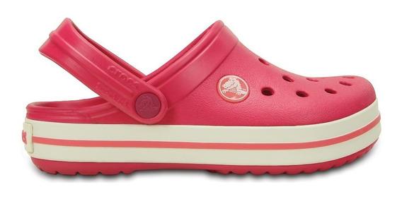 Zuecos Crocs Crocband Ros/bla De Niñas