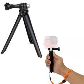 Tripé Grip Mão 2 Em 1 Câmera Action Cam Profissional