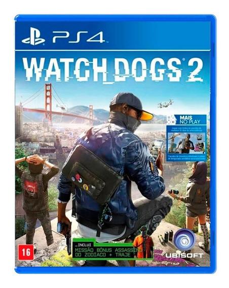 Watch Dogs 2 - Ps4 - Mídia Física