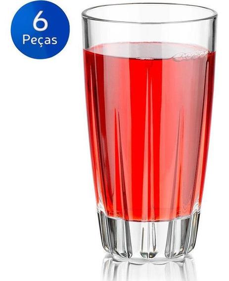 Jogo De Copos Long Drink Aztec 473ml 6 Peças - Crisa
