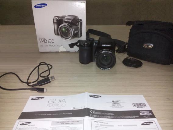Câmera Samsumg Wb100 16.2mp Zoom Òptico Na Caixa + Case Nova