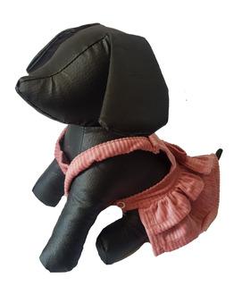 Vestido Para Perrita Tipo Jumper De Pana Talla 5