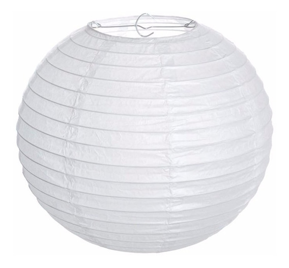Lanterna Japonesa Papel Branco 40cm C/2 Unid +4x30cm Hachi8